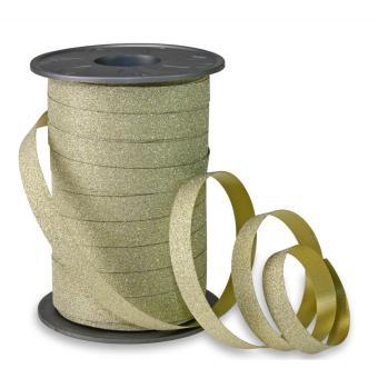 Poly Glitter Geschenkband 10mm x 100m gold -634