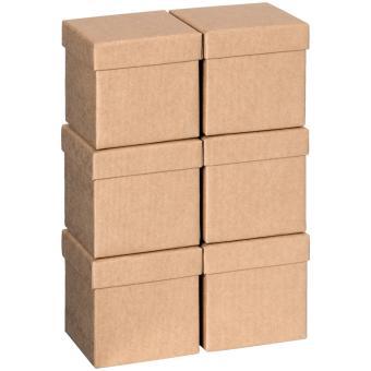 Geschenkkartonsatz One Colour 13.5 x 13.5 x 12.5cm   natur