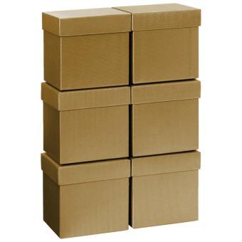 Geschenkkartonsatz One Colour 13.5 x 13.5 x 12.5cm | gold