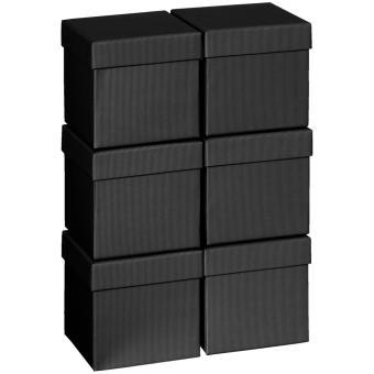 Geschenkkartonsatz One Colour 13.5 x 13.5 x 12.5cm | schwarz