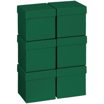 Geschenkkartonsatz One Colour 13.5 x 13.5 x 12.5cm | dunkelgrün