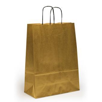 Toptwist Tragetaschen gold, 24 x 11 x 31cm, 24 x 11 x 31cm | gold